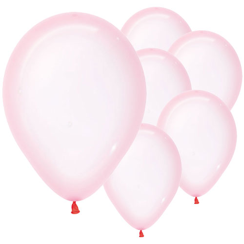 Pastel Pink Crystal Biodegradable Latex Balloons 30cm / 12 in - Pack of 50