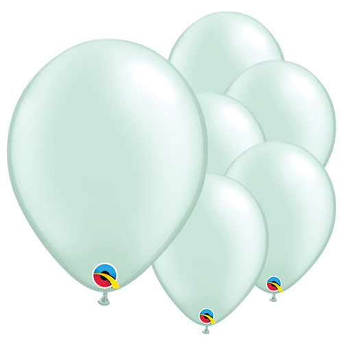 Pearl Mint Green Round Latex Qualatex Balloons 28cm / 11 in – Pack of 100