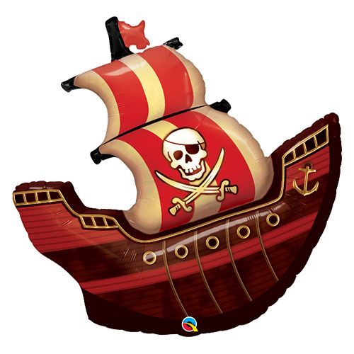 Pirate Ship Skull And Swords Helium Foil Giant Qualatex Balloon 102cm / 40 in