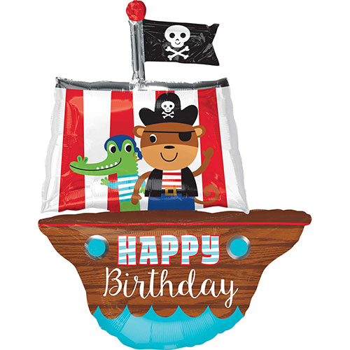 Pirate Ship Wave Birhday Helium Foil Giant Balloon 86cm / 34 in