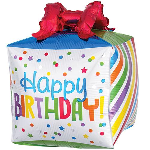 Present Happy Birthday Helium Foil Giant Balloon 53cm / 21 in