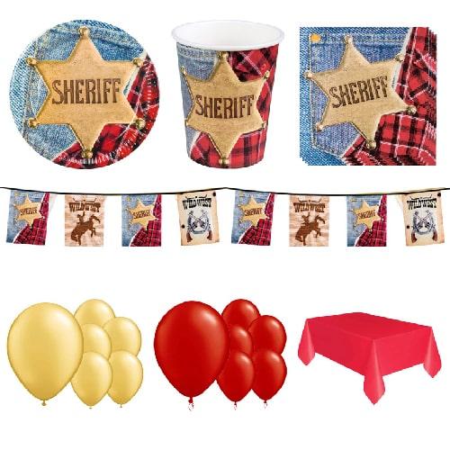 Sheriff Wild West 12 Person Deluxe Party Pack