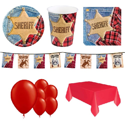 Sheriff Wild West 6 Person Deluxe Party Pack