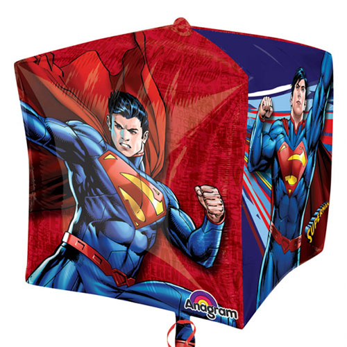 Superman Cubez Foil Helium Balloon 38cm / 15 in Product Gallery Image