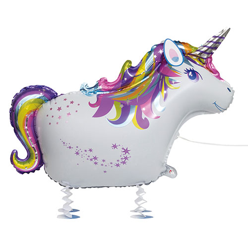 Unicorn Walking Pet Foil Helium Balloon 86cm / 34 in