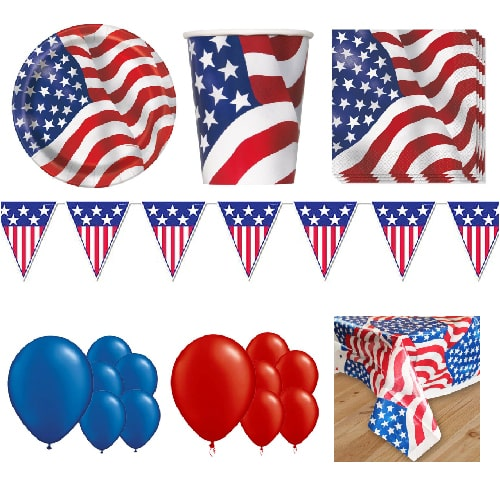 USA 16 Person Deluxe Party Pack