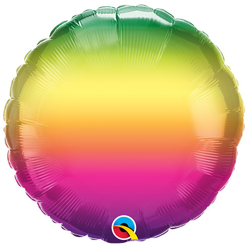 Vibrant Ombre Round Foil Helium Qualatex Balloon 46cm / 18 in