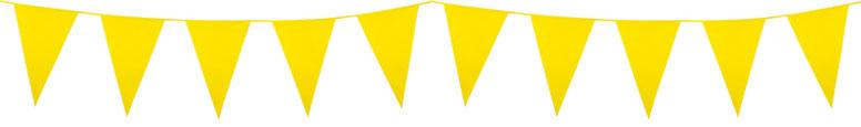 Yellow Plastic Pennant Bunting 10m
