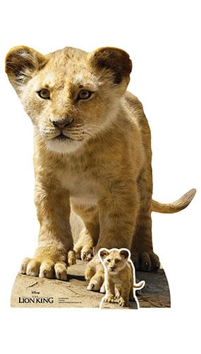 Young Simba Lion King Live Action Star Mini Cardboard Cutout 87cm Product Gallery Image