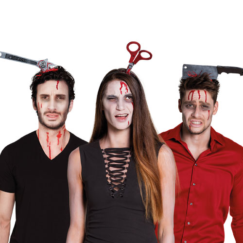 Assorted Tiara Horror Foam Device Adult Halloween Fancy Dress Product Gallery Image