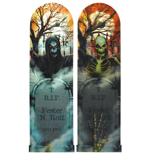 Spooky Halloween Lenticular Sign Wall Hanging Decoration 100cm Product Image