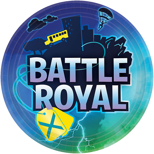 Battle Royal Round Paper Plates 23cm - Pack of 8