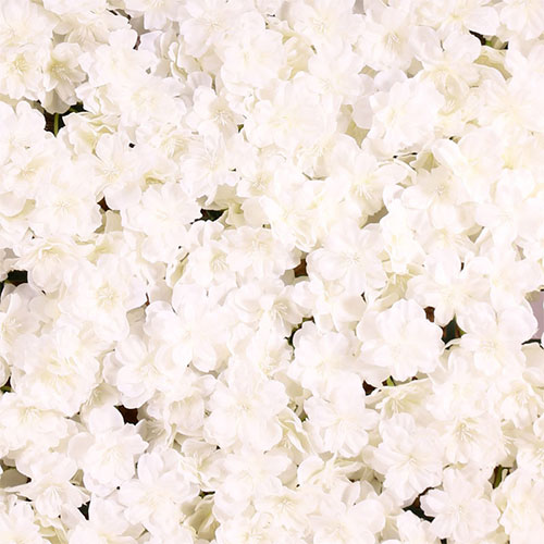 Blossom White Artificial Hydrangea Silk Flower Wall Panel 60cm x 40cm Product Gallery Image