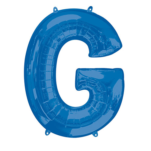 Blue Letter G Air Fill Foil Balloon 40cm / 16 in Product Image