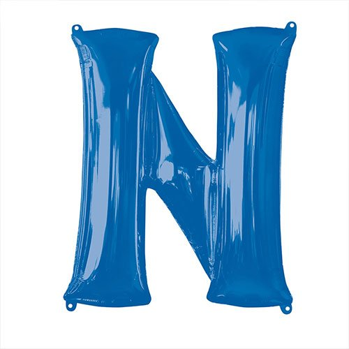 Blue Letter N Air Fill Foil Balloon 40cm / 16 in Product Image