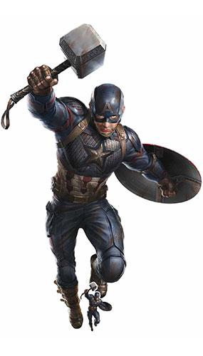 Captain America Mjolnir Avengers Endgame Mega Lifesize Cardboard Cutout 220cm Product Gallery Image