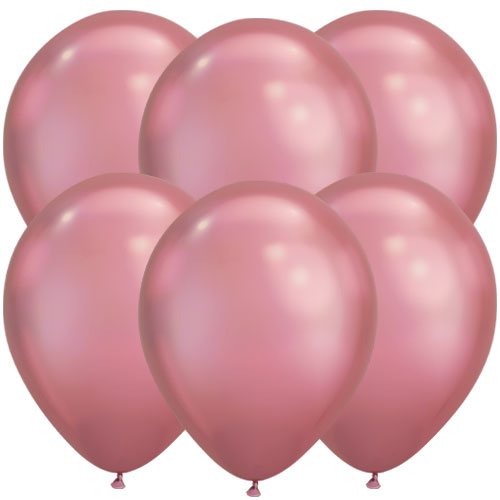 Chrome Mauve Round Latex Qualatex Balloons 18cm / 7 in – Pack of 10
