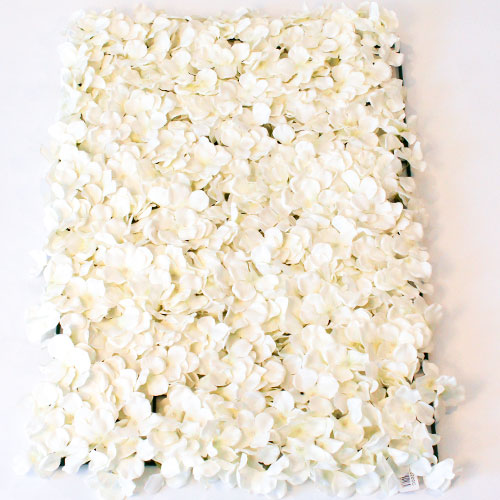 Cream Artificial Hydrangea Silk Flower Wall Panel 60cm x 40cm Product Gallery Image