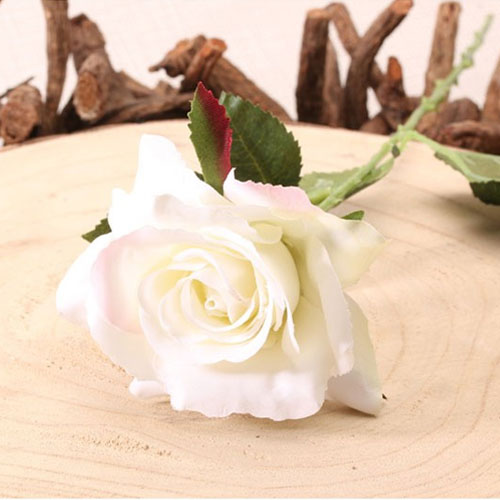 Cream Richmond Rose Artificial Silk Flower 42cm Product Gallery Image