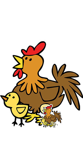 Cute Chicken With Chicks Farmyard Animal Lifesize Cardboard Cutout 73cm Product Gallery Image