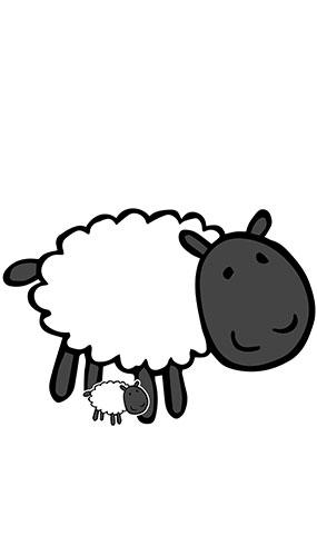 Cute Sheep Farmyard Animal Lifesize Cardboard Cutout 90cm Product Gallery Image