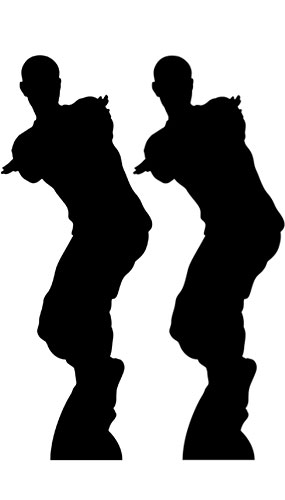 Dancing Gamer Silhouette Lifesize Cardboard Cutout 172cm - Pack of 2 Product Gallery Image