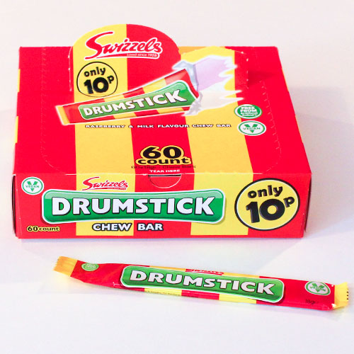 Drumstick Raspberry And Milk Chew Bar Sweet 18g - Pack of 60