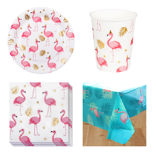 Flamingo Gold 6 Person Value Party Pack