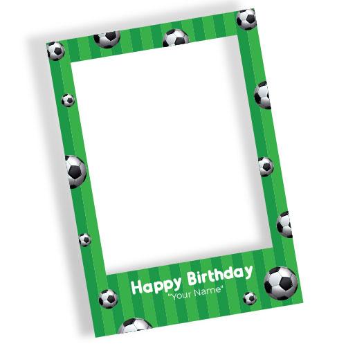 Football Happy Birthday Personalised Selfie Frame Photo Prop
