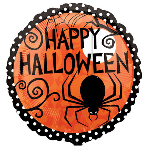 Frightfully Fancy 2 Sided Halloween Round Foil Helium Balloon 43cm / 17 in Product Gallery Image