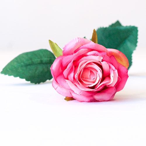 Fuschia Diamond Rose Artificial Silk Flower 40cm Product Gallery Image