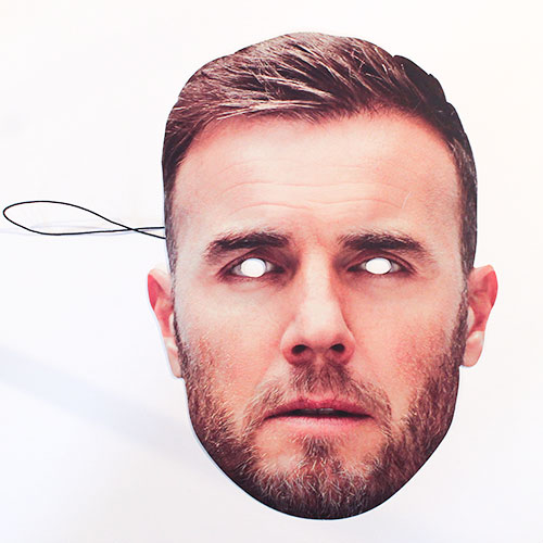 Gary Barlow Cardboard Face Mask Product Image
