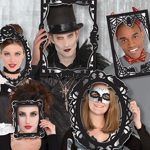 Gothic Halloween Photo Booth Props - Pack of 12 Product Gallery Image