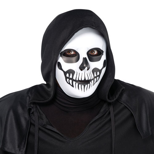 Halloween Adults Black And Bone Horror Skull Mask Product Gallery Image