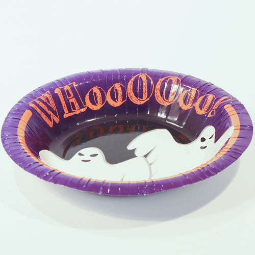 Halloween Ghost Paper Bowls 18cm - Pack of 12