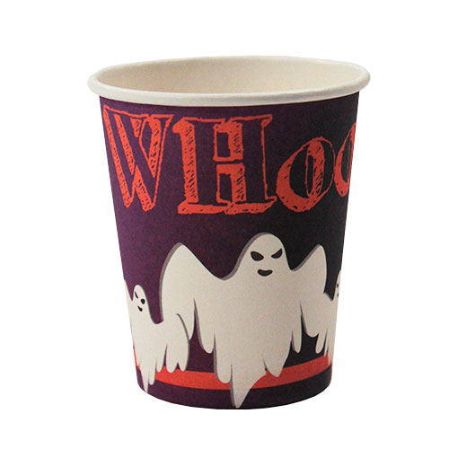 Halloween Ghost Paper Cups 250ml - Pack of 18