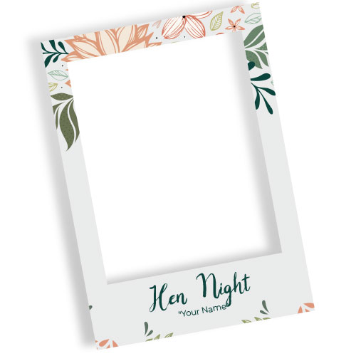Hen Night Flowers Personalised Selfie Frame Photo Prop