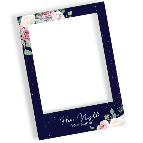 Hen Night Roses Personalised Selfie Frame Photo Prop