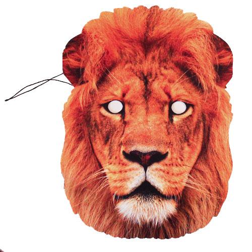 Lion Cardboard Face Mask
