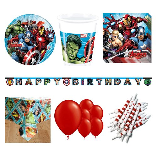 Marvel Avengers 8 Person Deluxe Party Pack