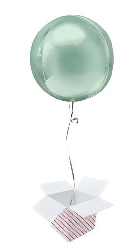 Mint Green Orbz Foil Helium Balloon - Inflated Balloon in a Box Product Image
