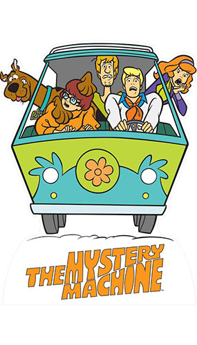Mystery Machine Van Scooby Doo Star Mini Cardboard Cutout 93cm Product Gallery Image