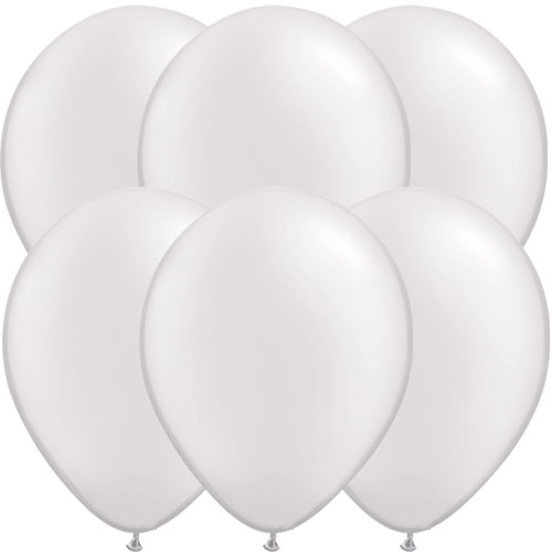 Pearl White Round Latex Qualatex Balloons 28cm / 11 in – Pack of 10