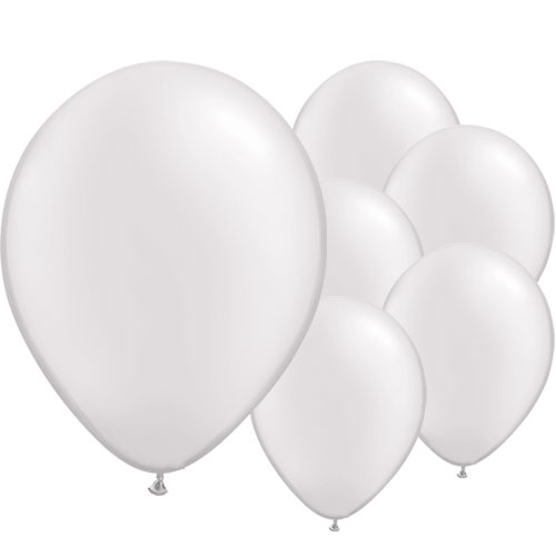 Pearl White Round Latex Qualatex Balloons 28cm / 11 in – Pack of 100