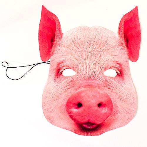 Pig Cardboard Face Mask