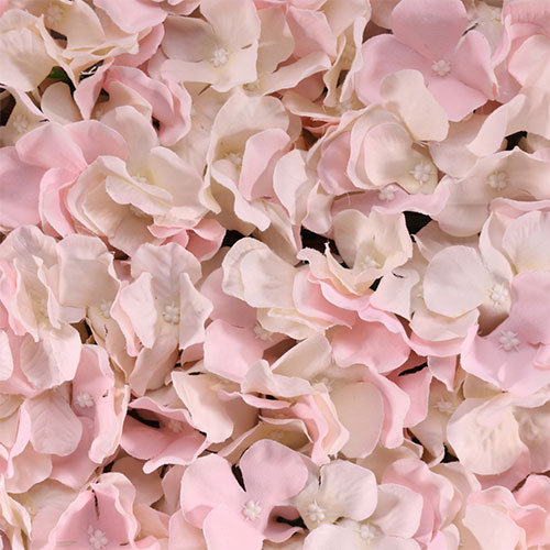 Pink Artificial Hydrangea Silk Flower Wall Panel 60cm x 40cm Product Gallery Image