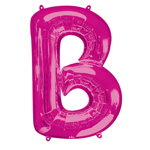Pink Letter B Air Fill Foil Balloon 40cm / 16 in Product Image