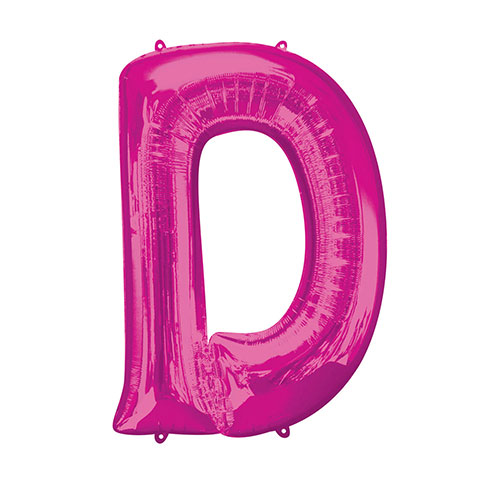 Pink Letter D Air Fill Foil Balloon 40cm / 16 in Product Image