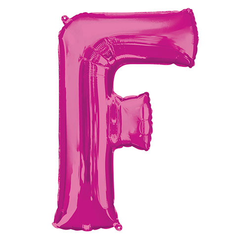 Pink Letter F Air Fill Foil Balloon 40cm / 16 in Product Image
