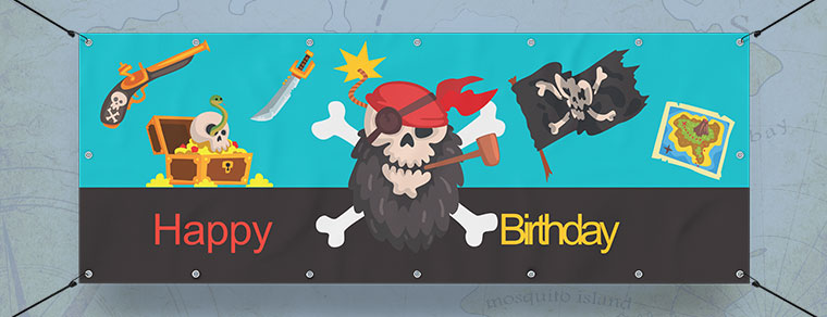 Pirate Personalised Banners